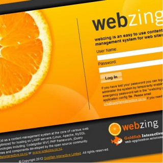 WebZing CMS Application